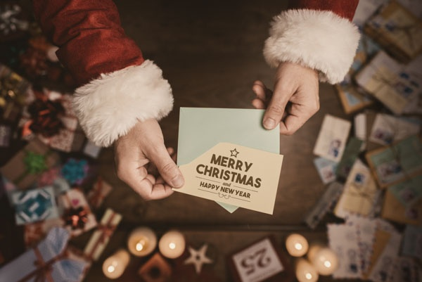 company christmas card tips